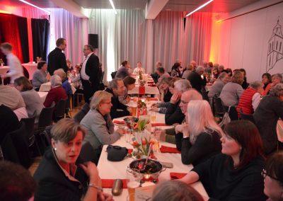 Dankeschönabend Tischreihe Pfarrer Köppen Drüing