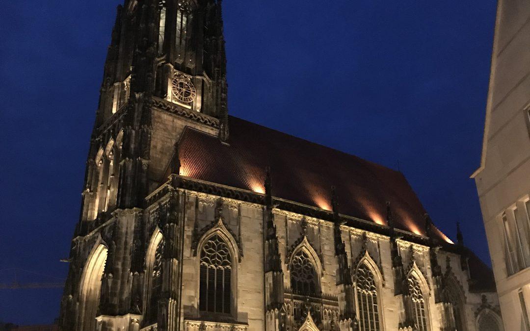 Neue Außenbeleuchtung der Lambertikirche